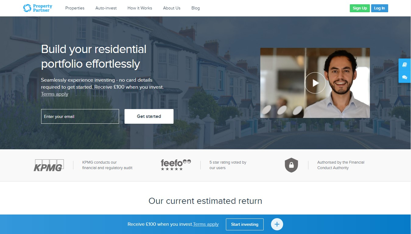 crowdfunding immobilier Property partner